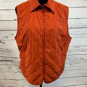 Faconnable Women's Vest Quiltted Zip Up L